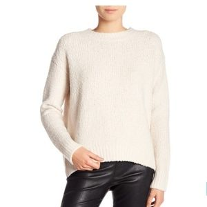 Vince Textured Wool Pullover Off White